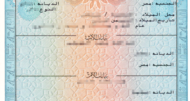 كشف شهادات الميلاد المميكنة التى تلقتها القنصلية المصرية العامة فى دبى