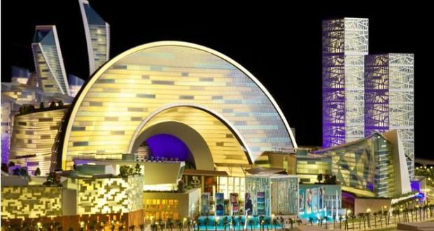 فيديو ( مول العالم ) أكبر مركز تسوق من نوعه في العالم من شركة دبي القابضة
