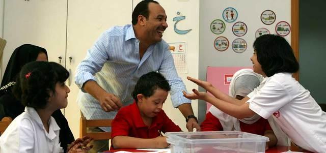 صالح كان من أوائل الفنانين المصريين الذين بادروا بالتواصل مع مركز راشد في دبي. الإمارات اليوم