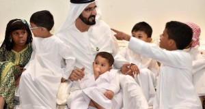 صاحب السمو الشيخ محمد بن راشد آل مكتوم يدشن قرية العائلة للأيتام
