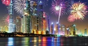 الألعاب النارية في دبي خلال عيد الفطر 2015