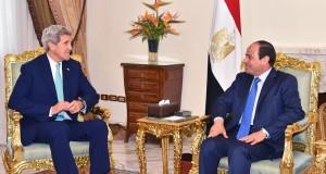 الرئيس عبد الفتاح السيسي يستقبل وزير الخارجية الأمريكي جون كيري