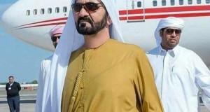 سمو الشيخ محمد بن راشد يصل القاهرة للمشاركة في حفل افتتاح قناة السويس الجديدة
