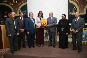 حفل تكريم لمعالي نبيلة مكرم وزيرة الدولة للهجرة وشؤون المصريين 1