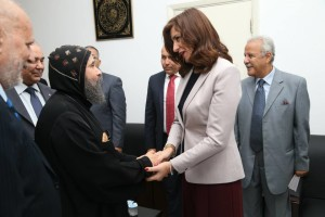 حفل تكريم لمعالي نبيلة مكرم وزيرة الدولة للهجرة وشؤون المصريين 5